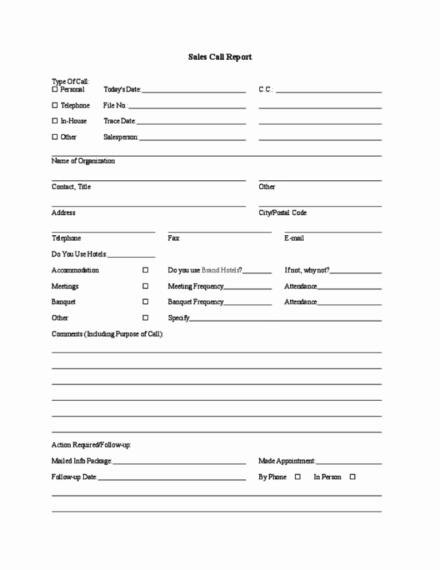 Sales Call Report Template Lovely Sales Call Report Templates Find Word Templates