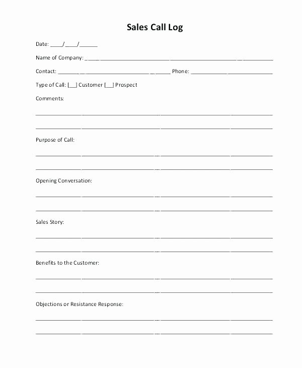 Sales Call Report Template New It Daily Sales Record Sheet Excel Template for Resume Call