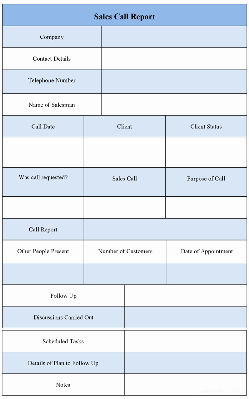 Sales Call Reporting Template Elegant Call Report Template Excel Frompo