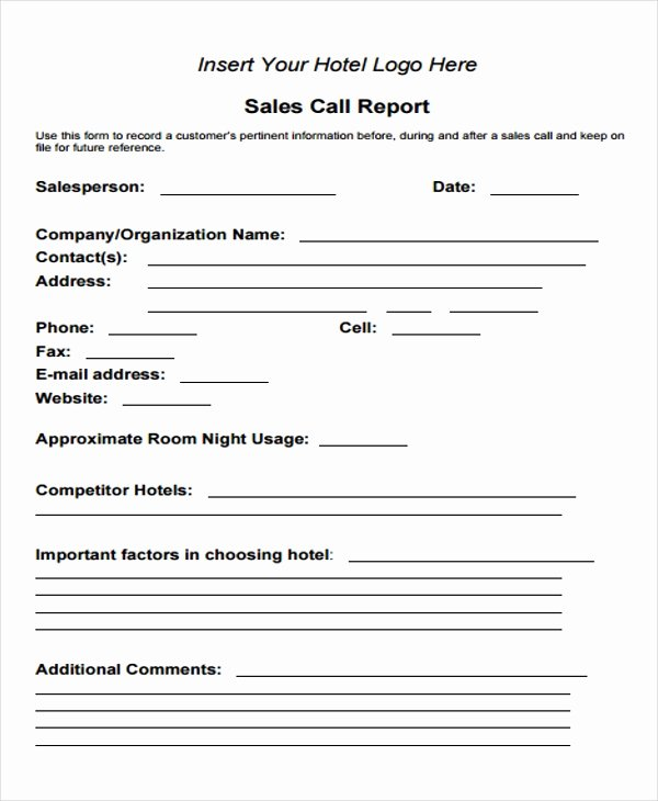 Sales Call Reporting Template Luxury Sales Call Report forms 13 Ingenious Ways You Can Do with