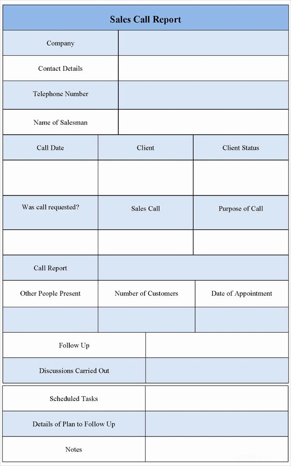 Sales Call Reporting Template New 8 Sales Call Report Examples Pdf