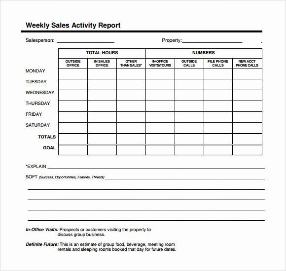 Sales Calls Report Template Beautiful 12 Sales Call Report Sample – Free Examples & format