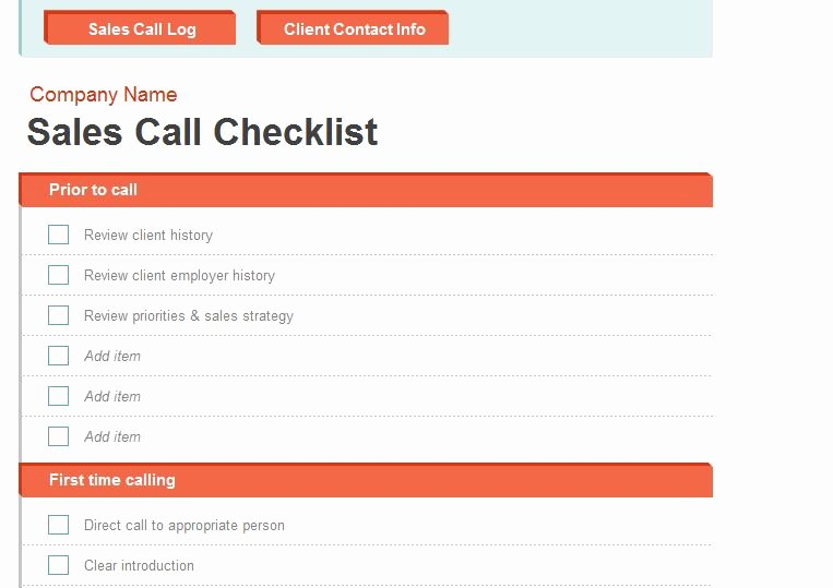 Sales Calls Report Template Beautiful Sales Call Report Template