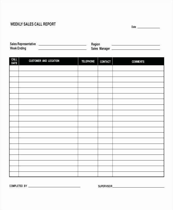 Sales Calls Report Template Elegant Fault Report Template Word