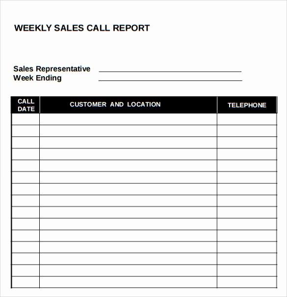 Sales Calls Report Template Luxury 14 Sales Call Report Samples