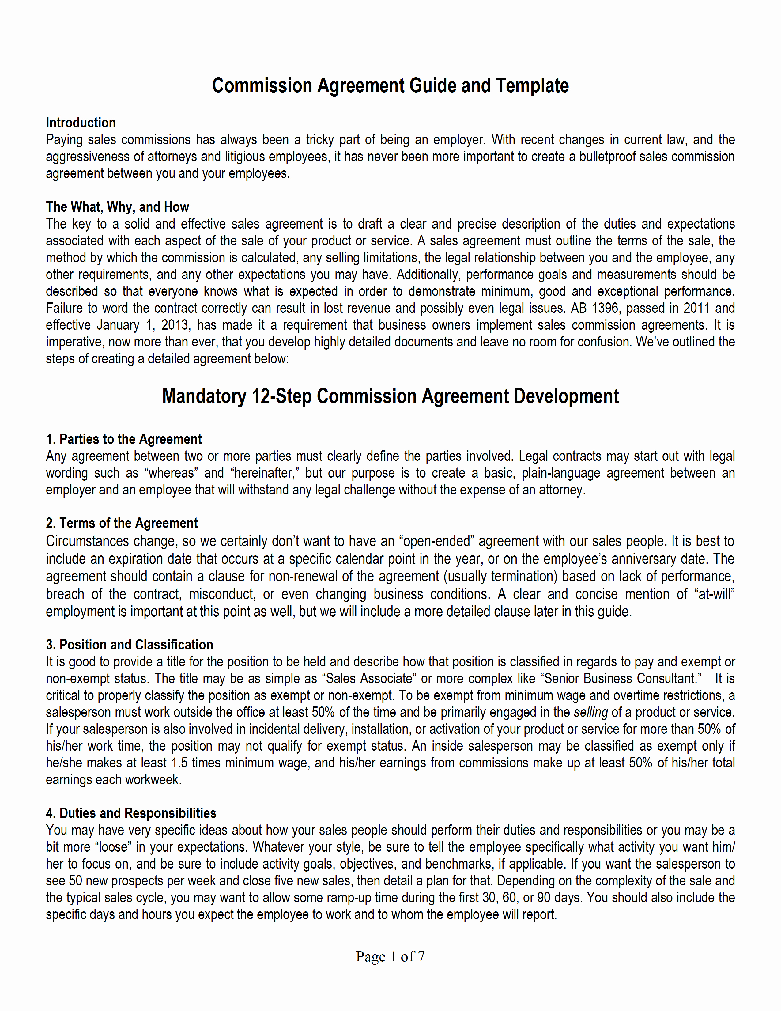 Sales Commission Agreement Template Awesome Sales Mission Agreement Template
