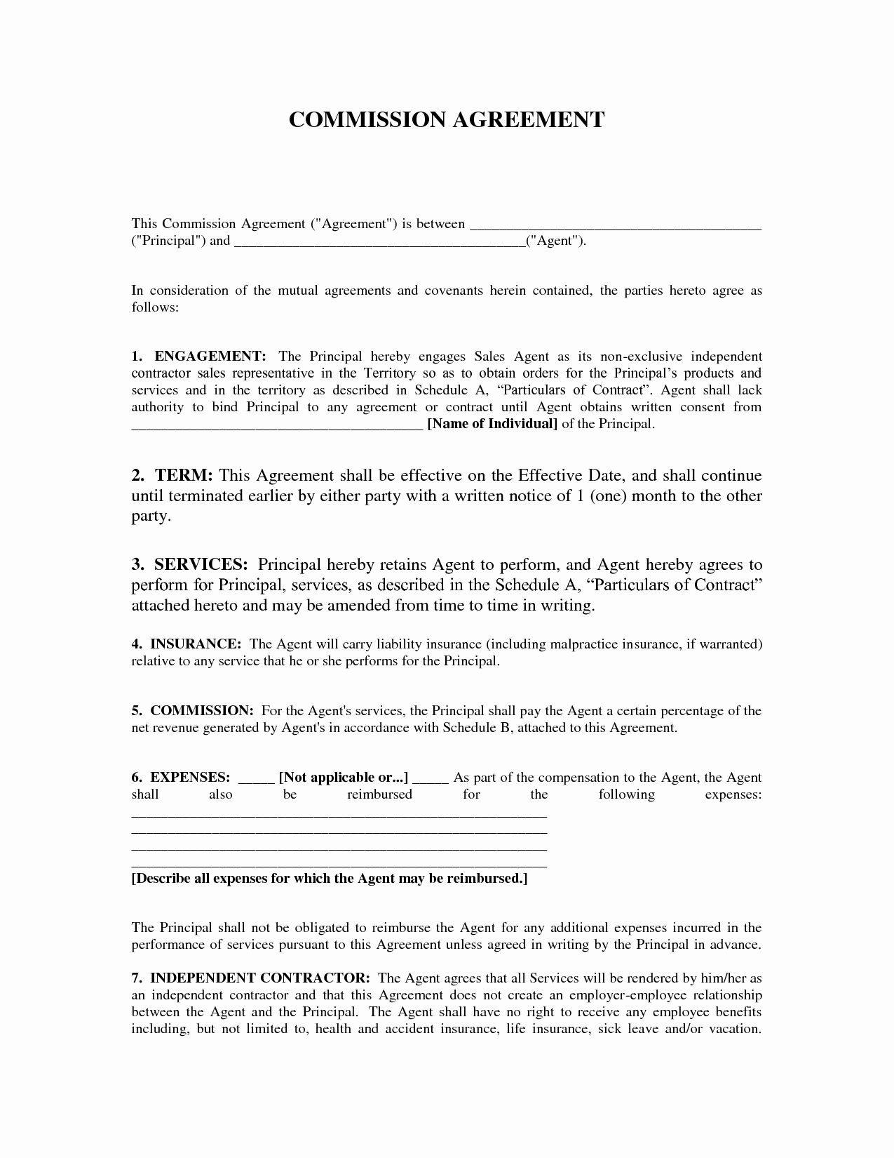 Sales Commission Agreement Template Best Of 7 Best Of Sales Mission Agreement Sample Sales