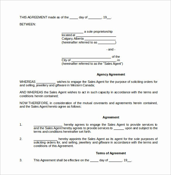 Sales Commission Agreement Template Elegant Mission Contract Template 9 Download Free Documents