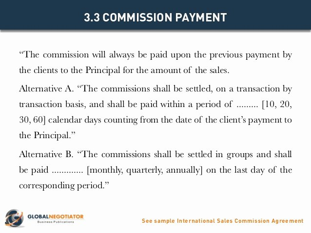 Sales Commission Agreement Template Fresh International Sales Mision Agreement