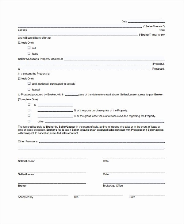 Sales Commission Agreement Template Lovely 9 Mission Sales Agreement Templates