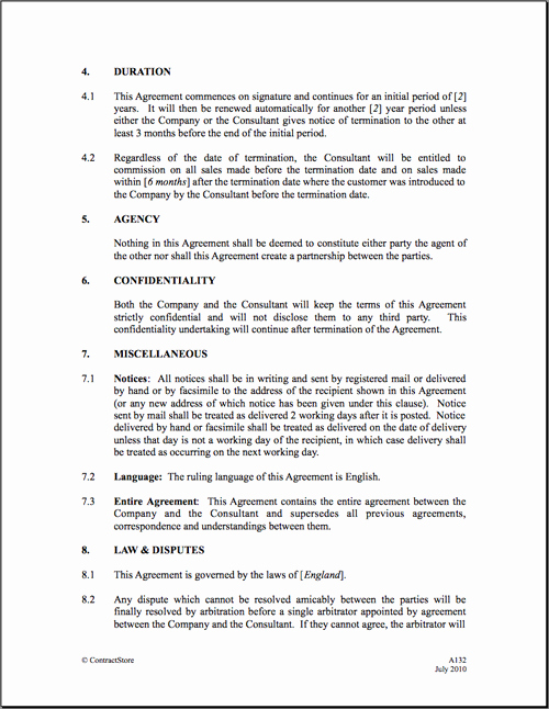 Sales Commission Agreement Template Luxury 6 Best Of Mission Agreement Letter Sales