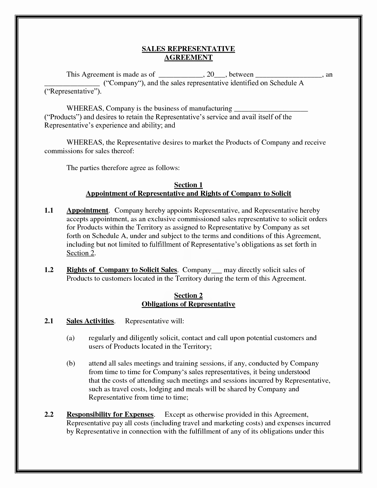 Sales Commission Agreement Template Luxury 8 Best Of Simple Mission Agreement Sales
