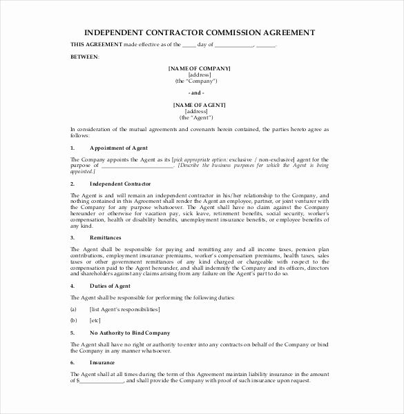 Sales Commission Agreement Template New 23 Mission Agreement Templates Word Pdf Pages