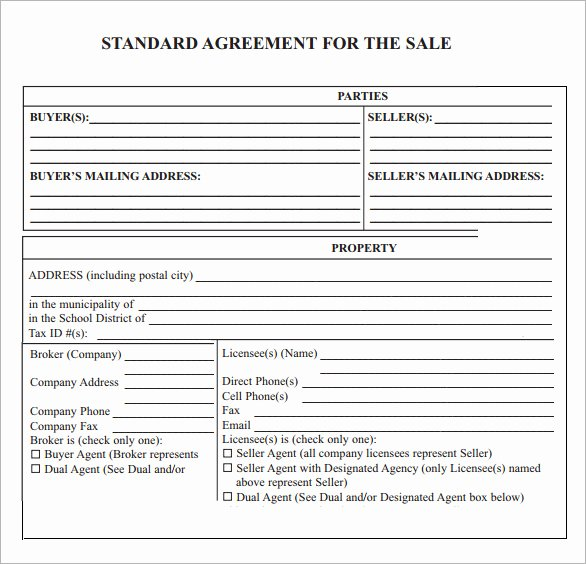 Sales Contract Template Word Lovely Sales Agreement 6 Free Pdf Doc Download