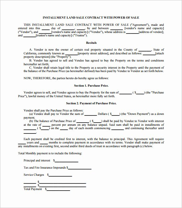 Sales Contract Template Word Unique Sales Contract Template 21 Word Pdf Documents Download