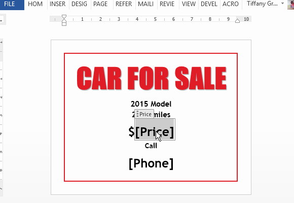 car sale flyer template for word