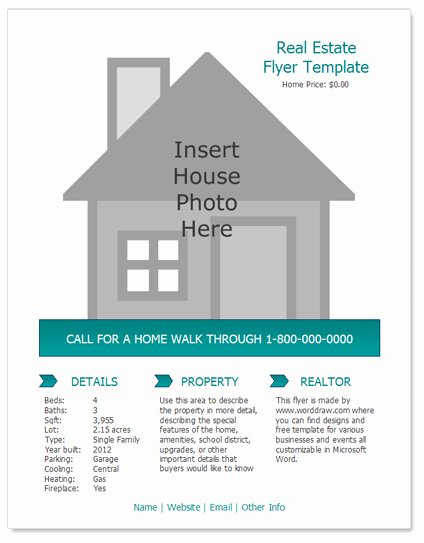 Sales Flyer Template Word Beautiful Worddraw Free Real Estate Flyer Template for