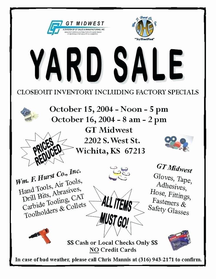Sales Flyer Template Word Beautiful Yard Sale Flyer Template Garage Sale Flyers 8 Yard Sale