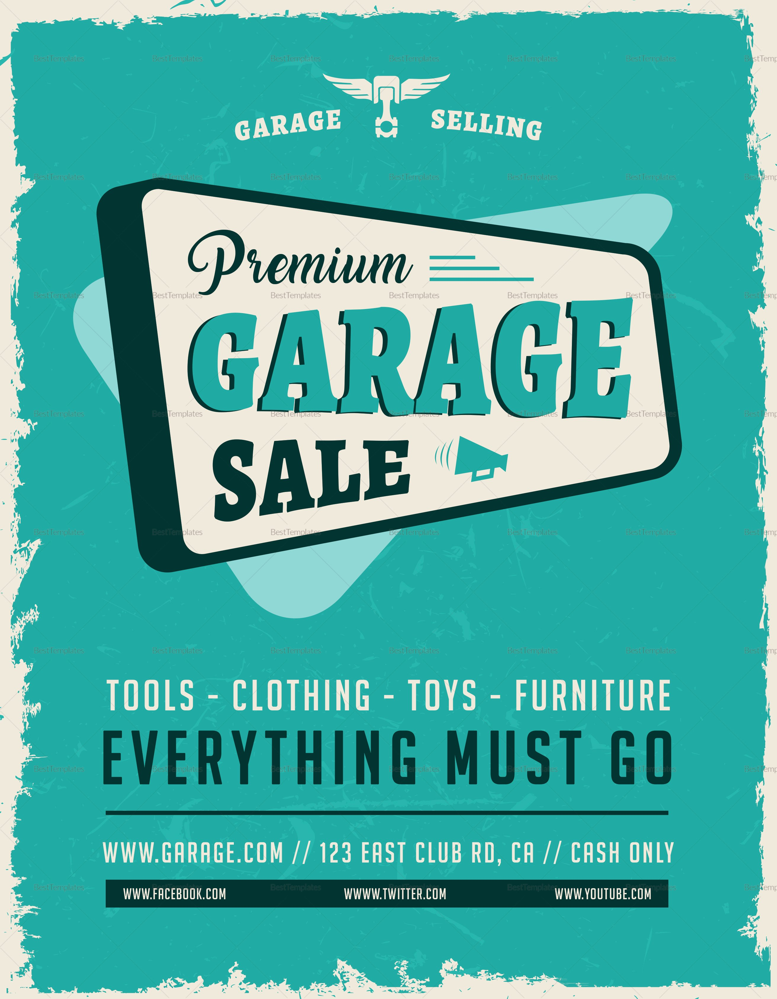 Sales Flyer Template Word Elegant Garage Sale Flyer Design Template In Word Psd Publisher