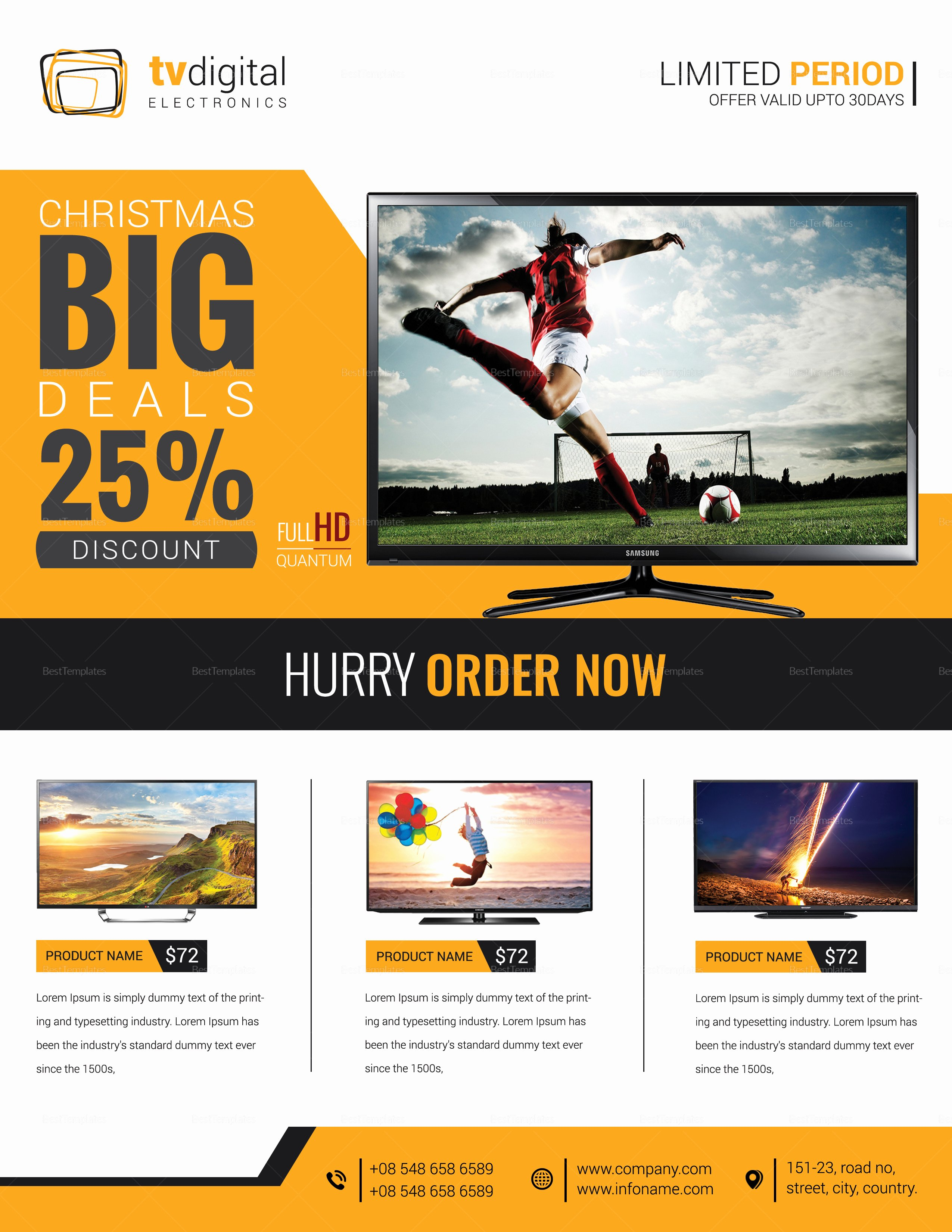 Sales Flyer Template Word Fresh Television Product Sale Flyer Design Template In Word Psd