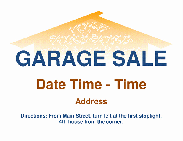 Sales Flyer Template Word Inspirational Garage Sale Flyer