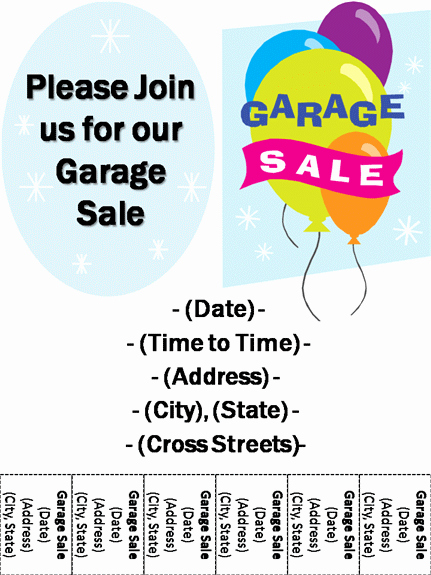 Sales Flyer Template Word New 15 Free Yard Sale Flyers Great Help Demplates