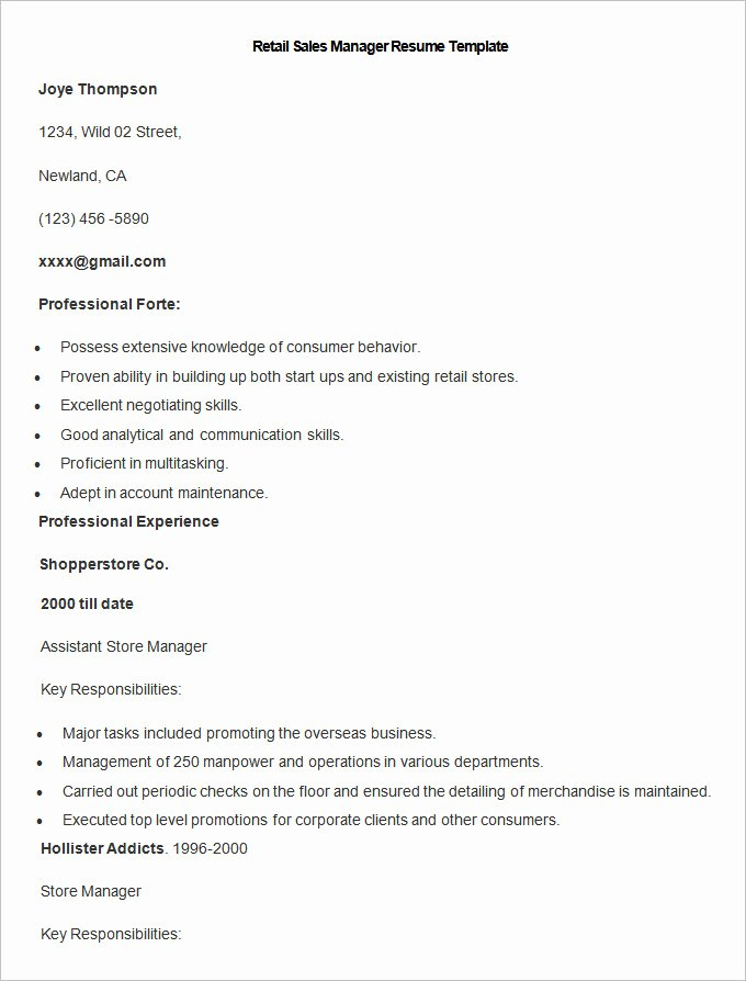 Sales Manager Resume Template Awesome Sales Resume Template – 41 Free Samples Examples format