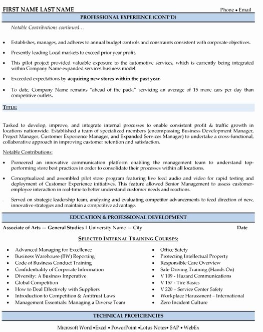 Sales Manager Resume Template Fresh Regional Sales Manager Resume Sample & Template