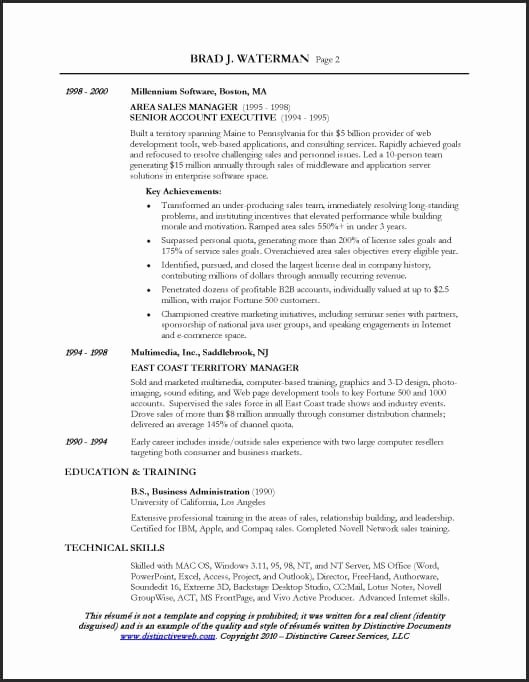 Sales Manager Resume Template Unique Resume Sample for A Sales Executive