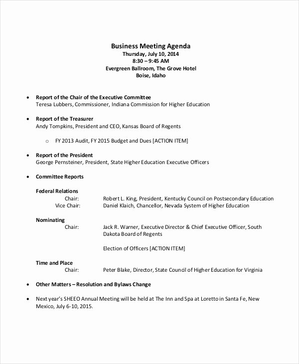 Sales Meeting Agenda Template Awesome 59 Meeting Agenda Examples & Samples Doc Pdf