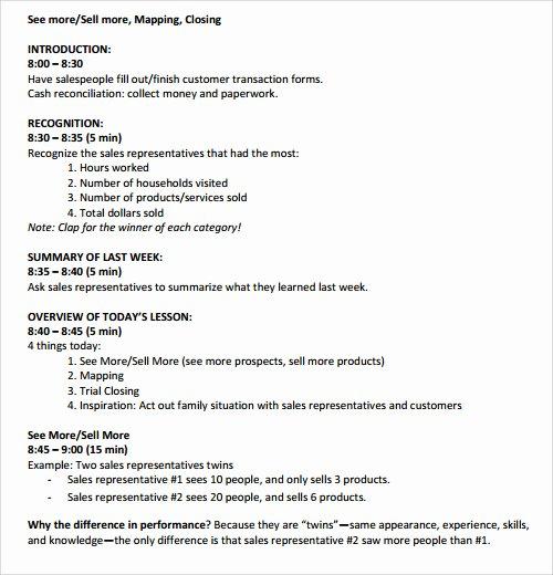 Sales Meeting Agenda Template Inspirational 41 Agenda Templates