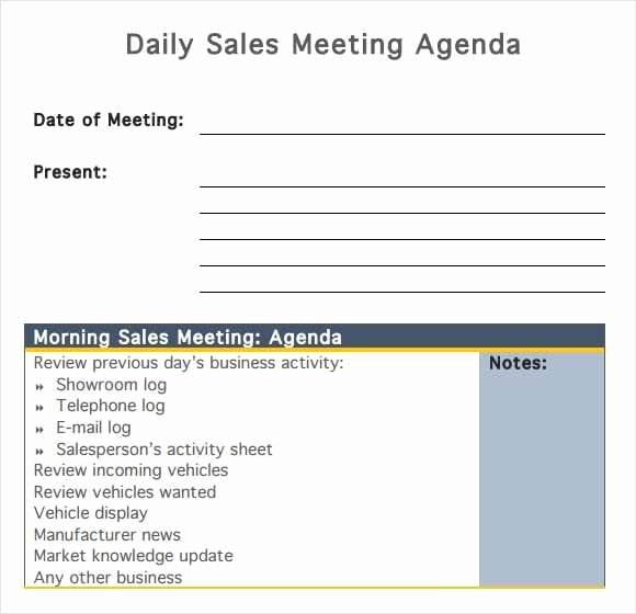 Sales Meeting Agenda Template Luxury 20 Meeting Agenda Templates Word Excel Pdf formats