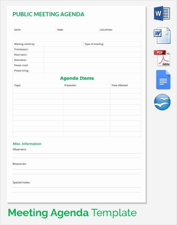 Sales Meeting Agenda Template Luxury Sample Sales Meeting Agenda – 15 Free Documents Download