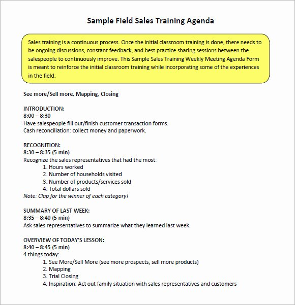 Sales Meeting Agenda Template Unique 16 Sales Meeting Agenda Templates