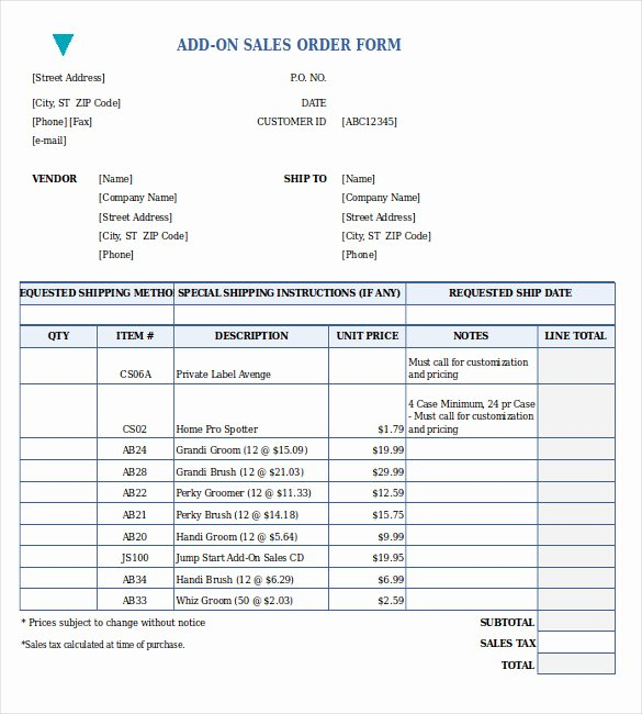 Sales order form Template Luxury 26 Sales order Templates – Free Sample Example format