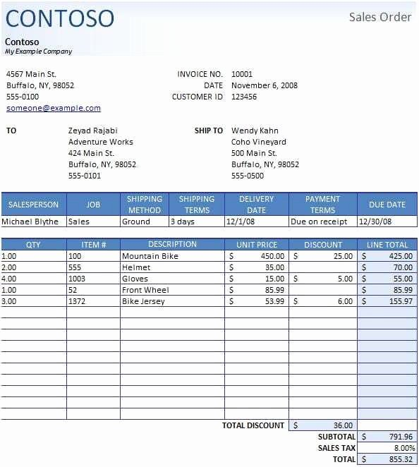 Sales order form Template New Sales order Templates Find Word Templates