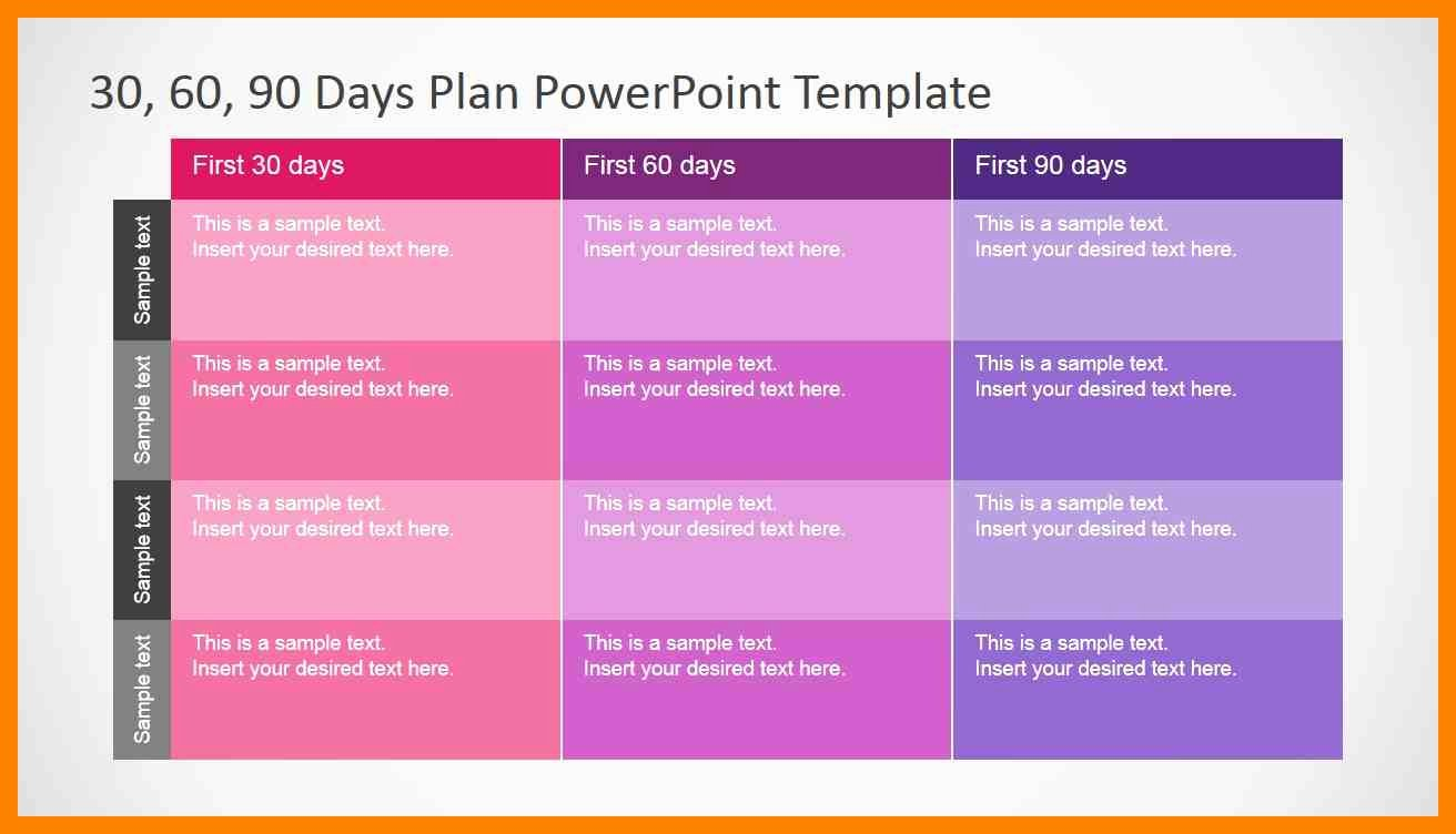 Sales Plan Template Ppt Fresh 9 30 60 90 Day Sales Plan Powerpoint Time Table Chart