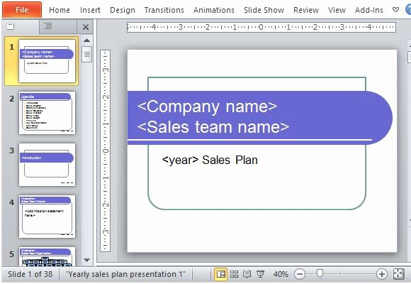 Sales Plan Template Ppt New Yearly Sales Plan Templates for Powerpoint
