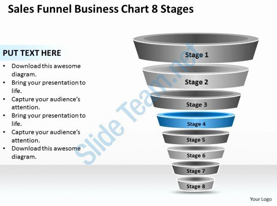 Sales Plan Template Ppt Unique Business Plan Sales Funnel Chart 8 Stages Powerpoint
