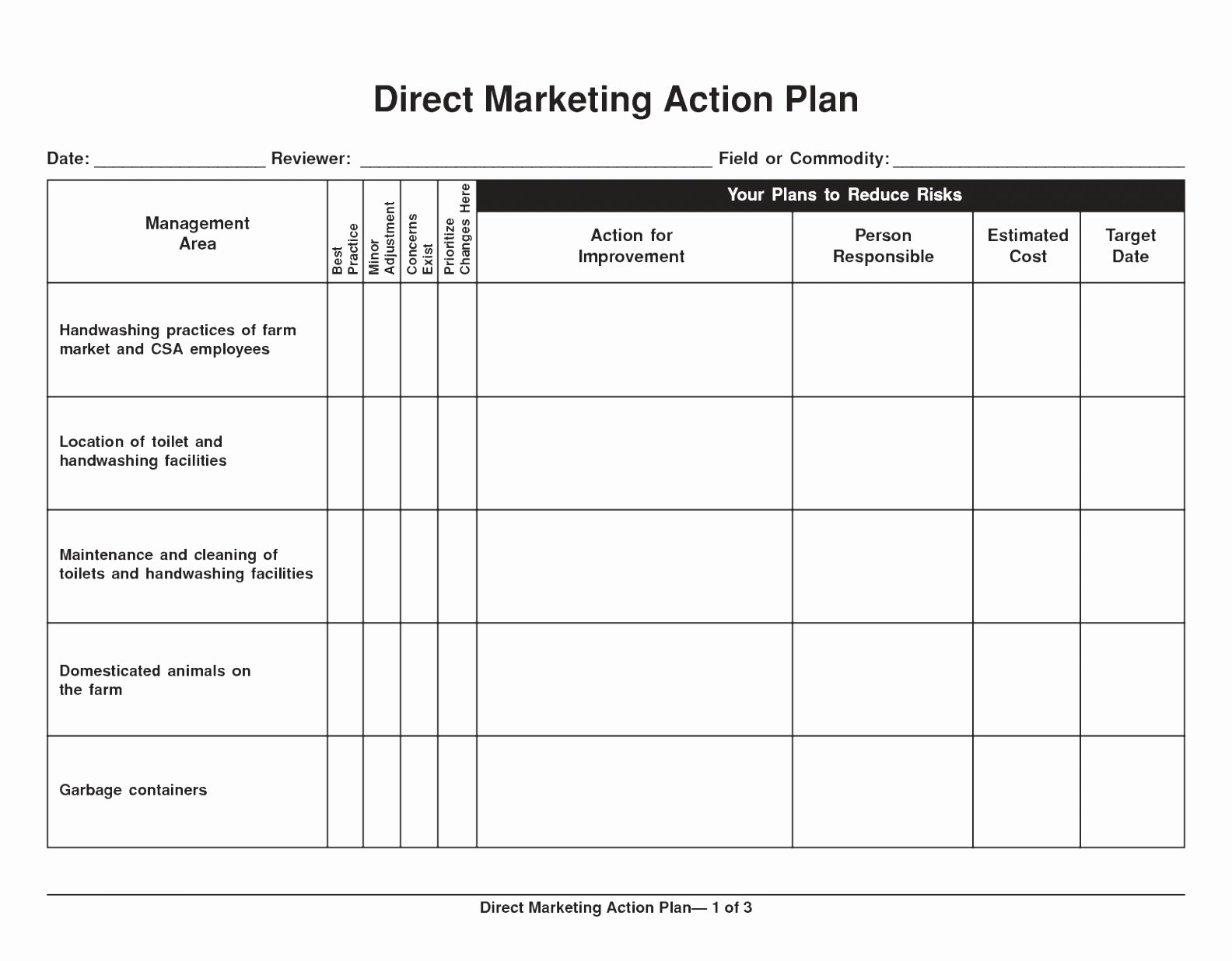 Sales Plan Template Word New 10 Sales and Marketing Action Plan Template Yoran
