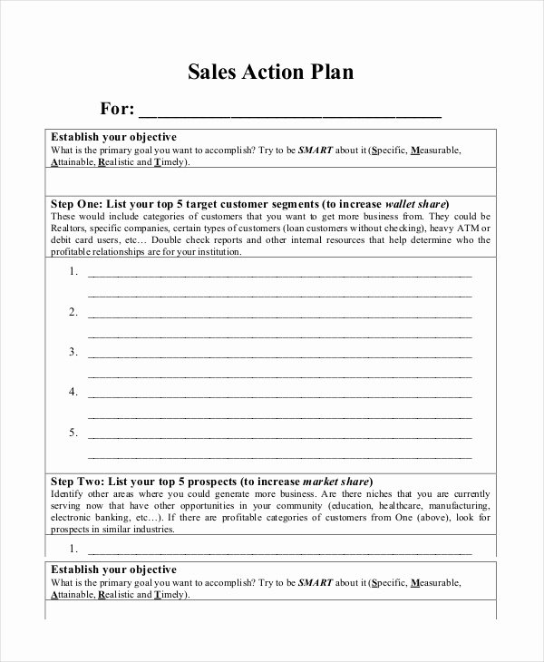Sales Plan Template Word New Action Plan Templates 9 Free Word Pdf Documents