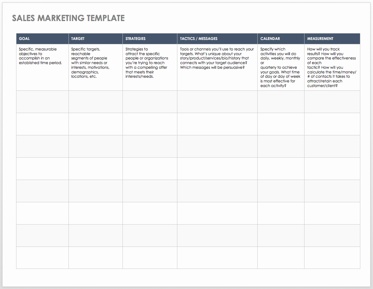 Sales Planning Template Excel Beautiful Free Sales Pipeline Templates