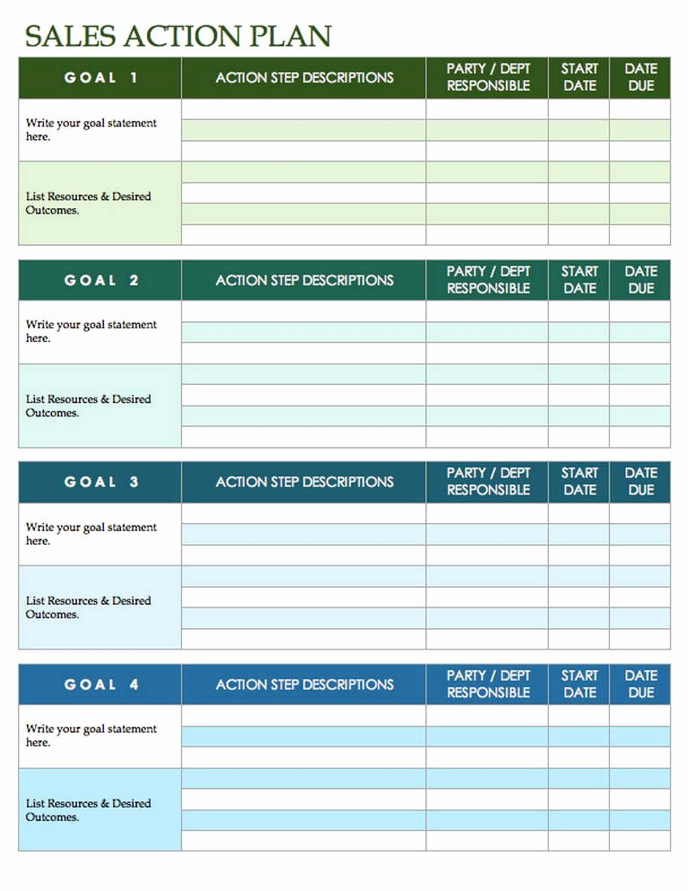 Sales Planning Template Excel Fresh Sales Plan Template