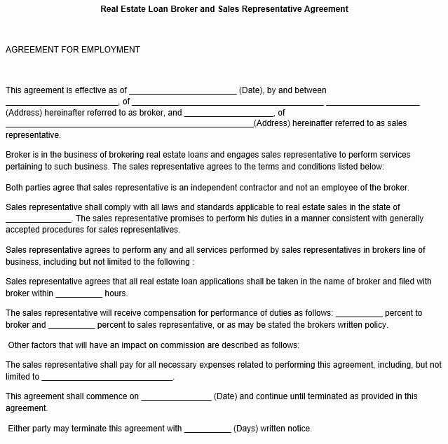 Sales Representation Agreement Template Beautiful Sales Representative Agreement Template