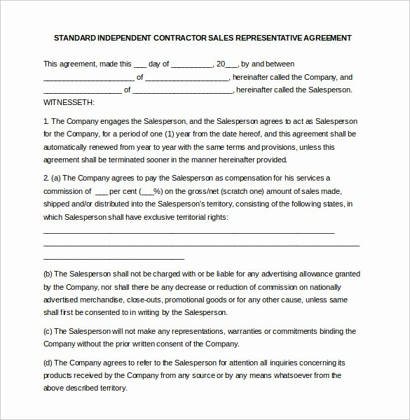 Sales Representation Agreement Template Fresh 19 Mission Agreement Templates Word Pdf Pages