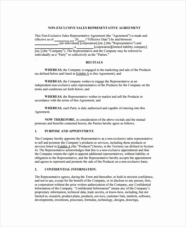 Sales Representation Agreement Template Fresh 8 Sales Agency Agreement Templates