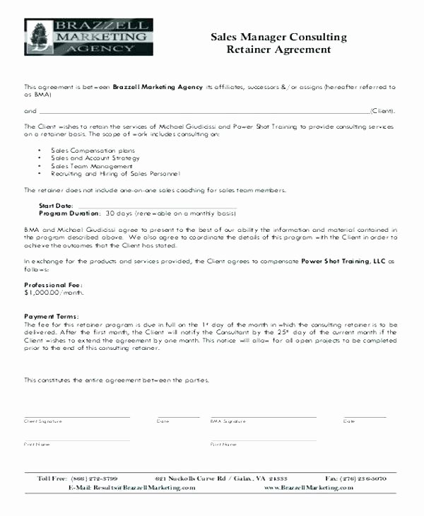 Sales Representation Agreement Template New Exclusive Sales Representative Agreement Template