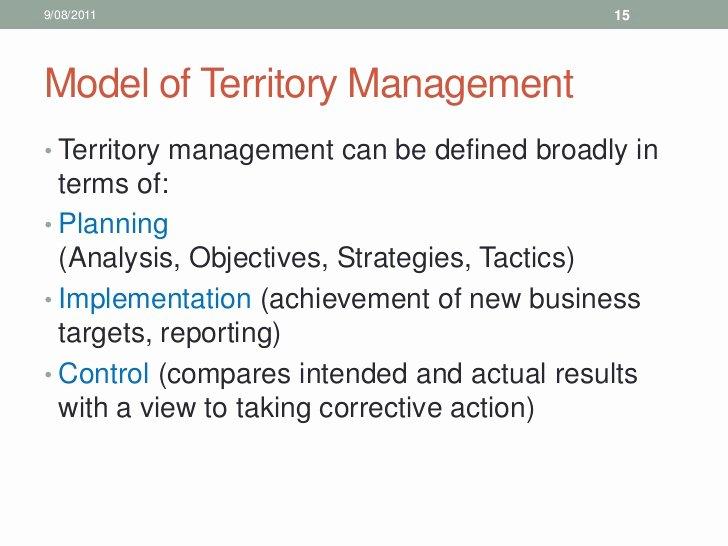 Sales Territory Plan Template Beautiful 10 Sales Training Territory Management