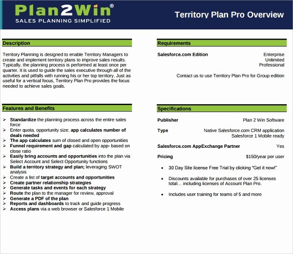 Sales Territory Planning Template Elegant Sample Territory Plan Template 8 Free Documents In Pdf