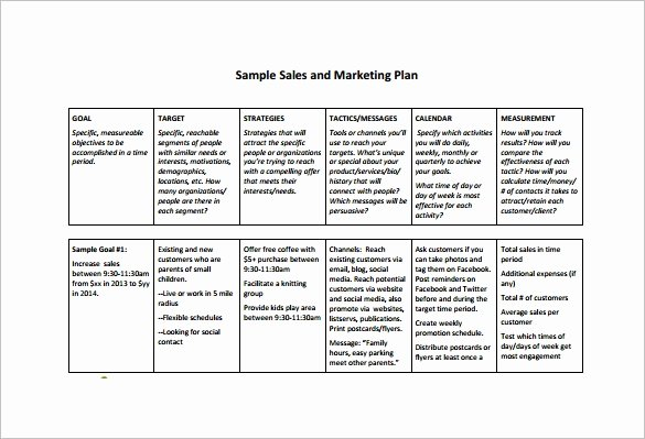Sales Territory Planning Template Fresh Sales Plan Template 23 Free Sample Example format